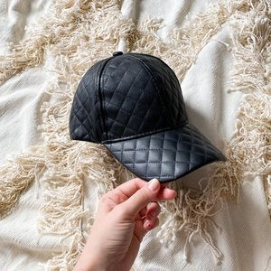 Aldo faux leather quilted hat